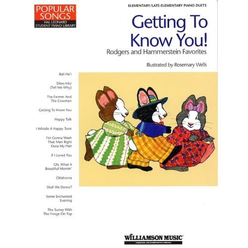 HAL LEONARD GETTING TO KNOW YOU RODGERS AND HAMMERSTEIN FAVOURITES - PIANO SOLO