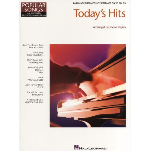 HAL LEONARD HAL LEONARD STUDENT PIANO LIBRARY TODAYS HITS - PIANO SOLO