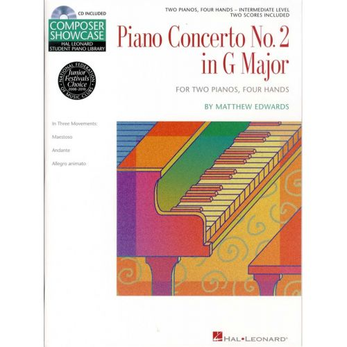HAL LEONARD MATTHEW EDWARDS - CONCERTO NO.2 IN G FOR 2 PIANOS - PIANO DUET