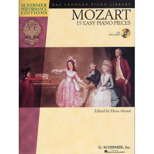 HAL LEONARD MOZART - 15 EASY PIANO PIECES + CD - PIANO SOLO