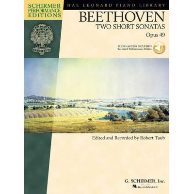 SCHIRMER HAL LEONARD STUDENT PIANO LIBRARY BTHVN 2 SHORT SONATAS OP49 + MP3 - PIANO SOLO