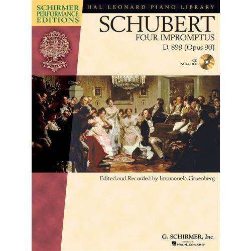 HAL LEONARD GRUENBERG IMMANUELA - SCHUBERT - FOUR IMPROMPTUS, D. 899+ CD - PIANO SOLO