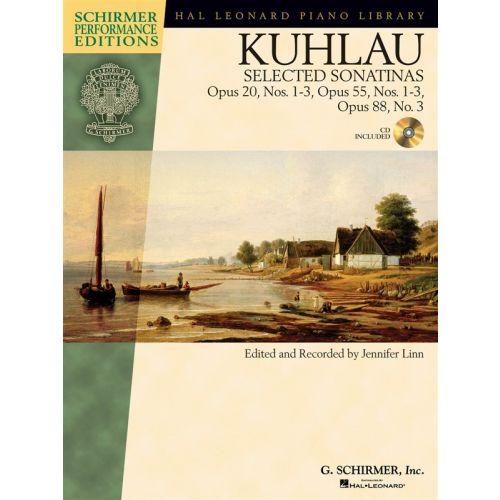 HAL LEONARD KUHLAU - SELECTED SONATINAS - OPUS 20, NOS. 1-3, OPUS 55, NOS. 1-3, OPUS 88, NO. 3+ CD - PIANO SOLO
