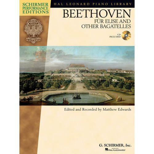 SCHIRMER BEETHOVEN L. VAN - LETTRE À ELISE ET AUTRES BAGATELLES + CD - PIANO