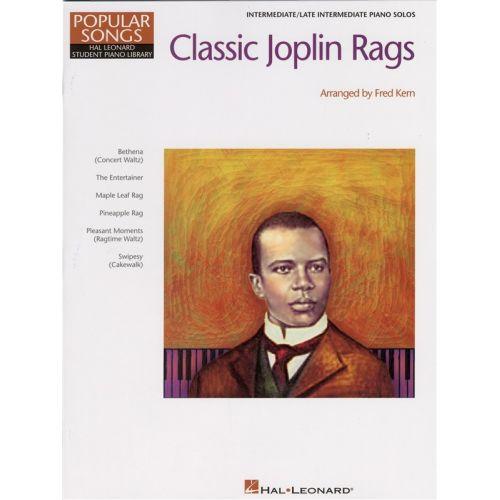 HAL LEONARD CLASSIC JOPLIN RAGS - INTERMEDIATE/LATE INTERMEDIATE PIANO SOLOS - PIANO SOLO