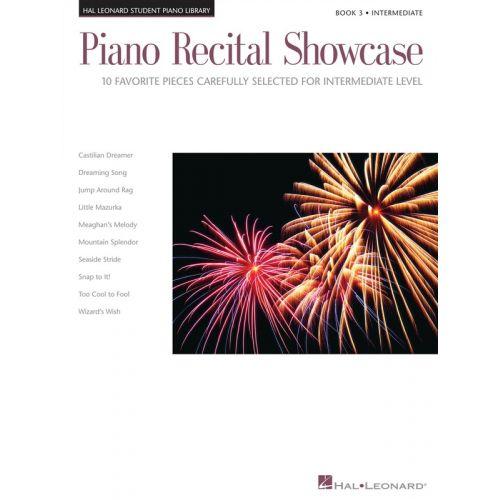 HAL LEONARD Piano Recital Showcase - Book 3 : Late Intermediate Level