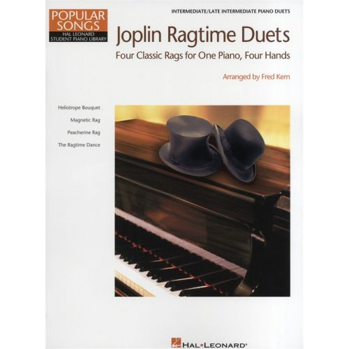 HAL LEONARD HAL LEONARD STUDENT PIANO LIBRARY - JOPLIN RAGTIME DUETS - PIANO DUET
