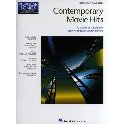 HAL LEONARD HAL LEONARD STUDENT PIANO LIBRARY CONTEMPORARY MOVIE HITS INTRMDTE - PIANO SOLO