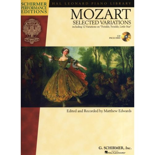 HAL LEONARD SCHIRMER PERFORMANCE EDITIONS MOZART SELECTED VARIATIONS PIANO + CD - PIANO SOLO