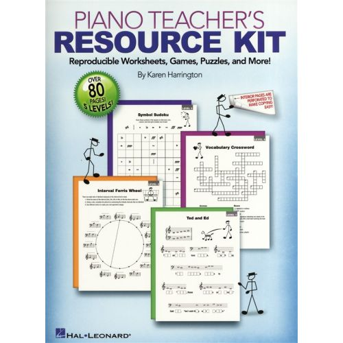 HAL LEONARD KAREN HARRINGTON PIANO TEACHER'S RESOURCE KIT WORKSHEETS GAMES-