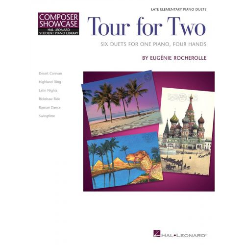 HAL LEONARD HAL LEONARD STUDENT PIANO LIBRARY - TOUR FOR TWO PIANO - PIANO DUET