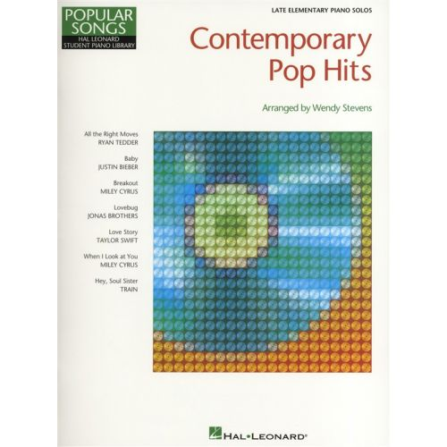HAL LEONARD HAL LEONARD STUDENT PIANO LIBRARY CONTEMPORARY POP HITS - PIANO SOLO