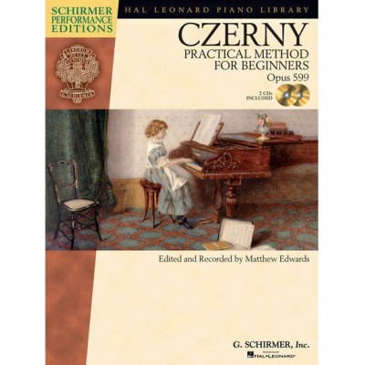 HAL LEONARD CZERNY CARL - PRACTICAL METHOD FOR BEGINNERS OP.599 PIANO + MP3 - PIANO SOLO