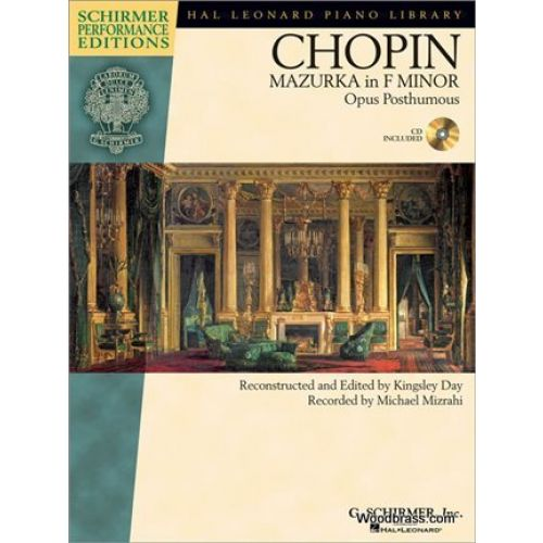 SCHIRMER CHOPIN F. - MAZURKA IN F MINOR OP.POST - PIANO