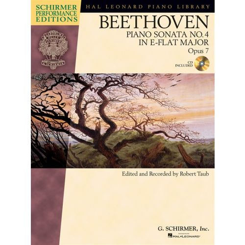 HAL LEONARD SCHIRMER PERFORMANCE EDITIONS BEETHOVEN SONATA NO. 4 + CD - PIANO SOLO