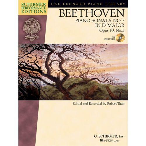 HAL LEONARD SCHIRMER PERFORMANCE EDITION BEETHOVEN PIANO SONATA NO.7 OP3 NO3 + CD - PIANO SOLO