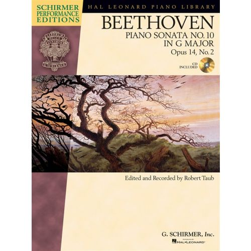 HAL LEONARD SCHIRMER PERFORMANCE EDITION BEETHOVEN PIANO SONATA NO.10 OP14/2 + CD - PIANO SOLO
