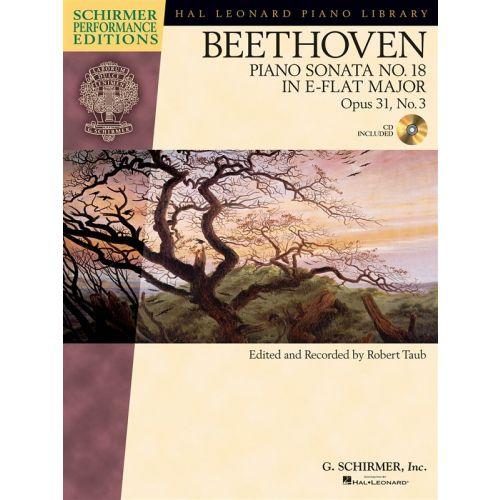 HAL LEONARD SCHIRMER PERFORMANCE EDITIONS BEETHOVEN SONATA NO.18 OP.31/3 + CD - PIANO SOLO