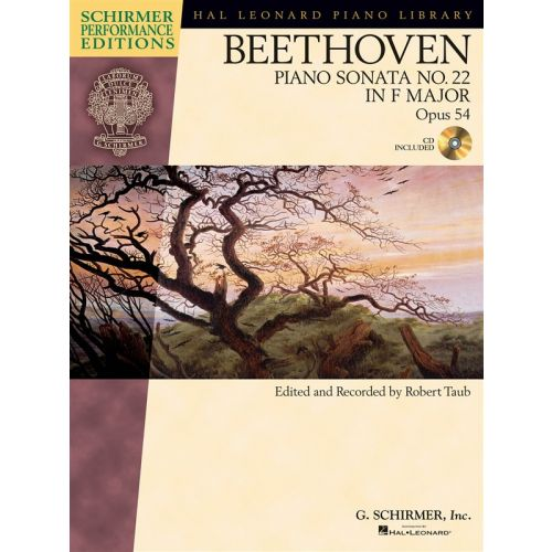 HAL LEONARD SCHIRMER PERFORMANCE EDITIONS BEETHOVEN SONATA NO.22 OP.54 + CD - PIANO SOLO