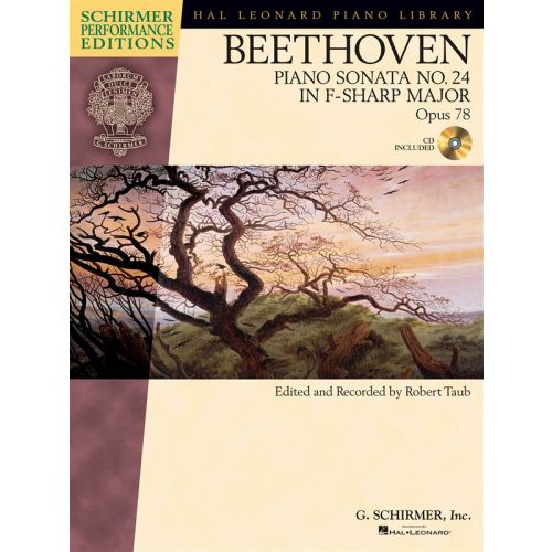 HAL LEONARD SCHIRMER PERFORMANCE EDITIONS BEETHOVEN PIANO SONATA NO.24 OP.78 + CD - PIANO SOLO