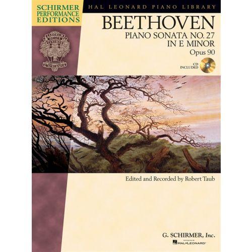 HAL LEONARD SCHIRMER PERFORMANCE EDITION BEETHOVEN SONATA NO.27 OP.90 + CD - PIANO SOLO