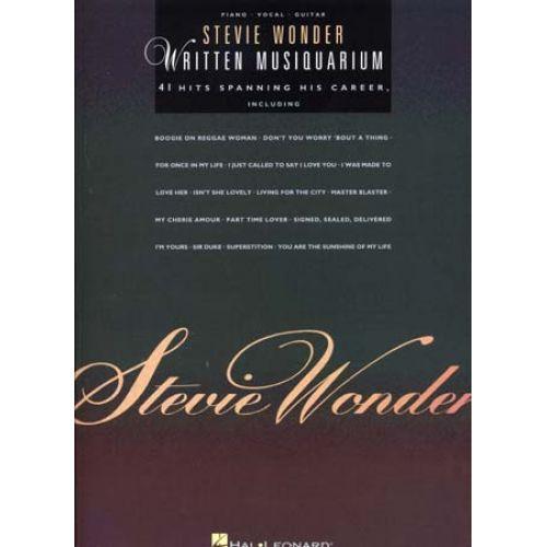 HAL LEONARD WONDER STEVIE - WRITTEN MUSIQUARIUM - PVG