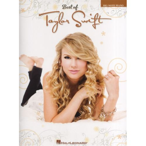 HAL LEONARD BEST OF TAYLOR SWIFT BIG NOTE - PIANO SOLO