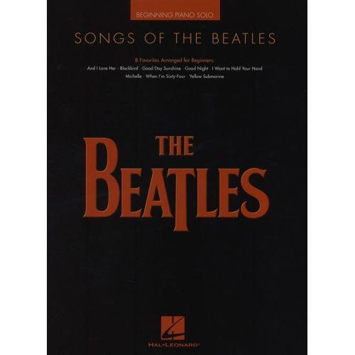 HAL LEONARD SONGS OF THE BEATLES BEGINNER PIANO SOLO - PIANO SOLO