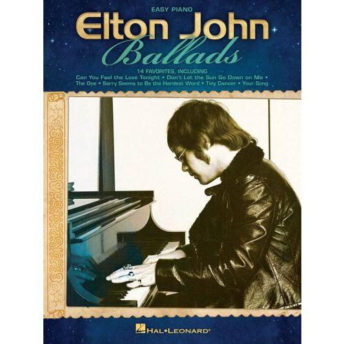 HAL LEONARD ELTON JOHN BALLADS EASY PIANO PERSONALITY - PIANO SOLO