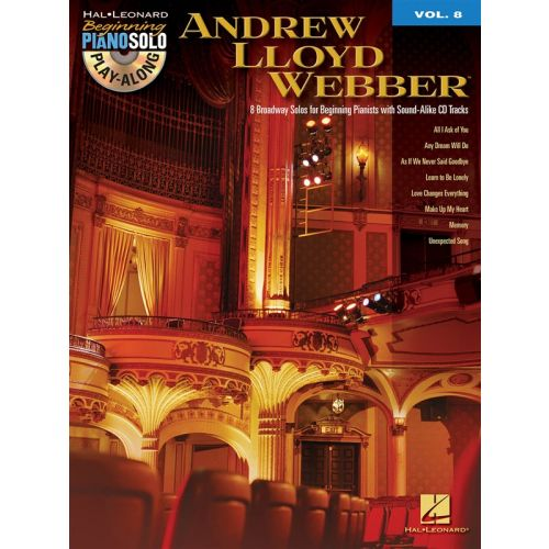 HAL LEONARD BEGINNING PIANO SOLO PLAY ALONG VOLUME 8 - ANDREW LLOYD WEBBER + CD - PIANO SOLO