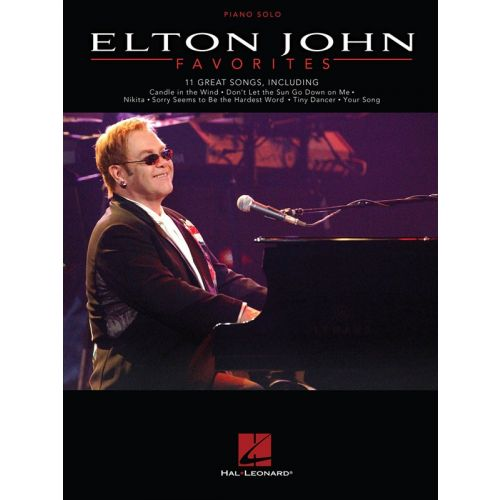HAL LEONARD ELTON JOHN FAVORITES PIANO SOLO PERSONALITY - PIANO SOLO