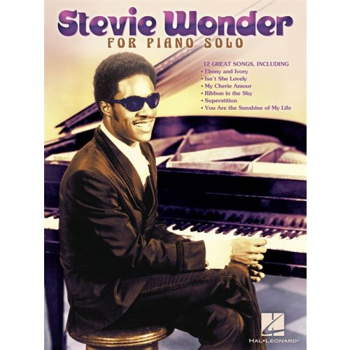 HAL LEONARD WONDER STEVIE FOR PIANO SOLO PF SOLO PERSONALITY - PIANO SOLO