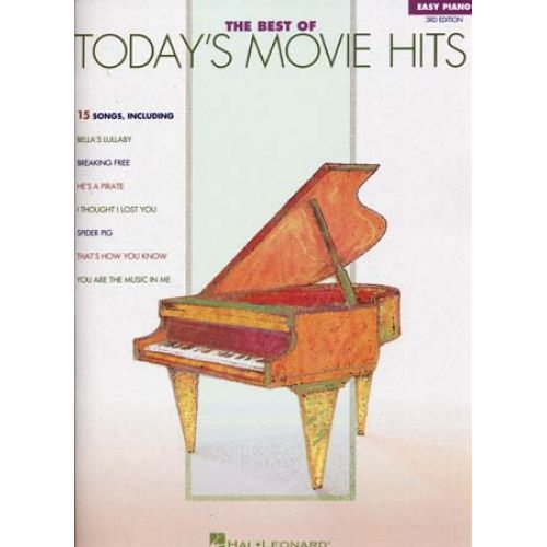 HAL LEONARD BEST OF TODAY'S MOVIE HITS EASY PIANO 3RD EDITION