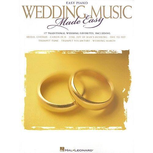 HAL LEONARD WEDDING MUSIC MADE EASY - PIANO SOLO