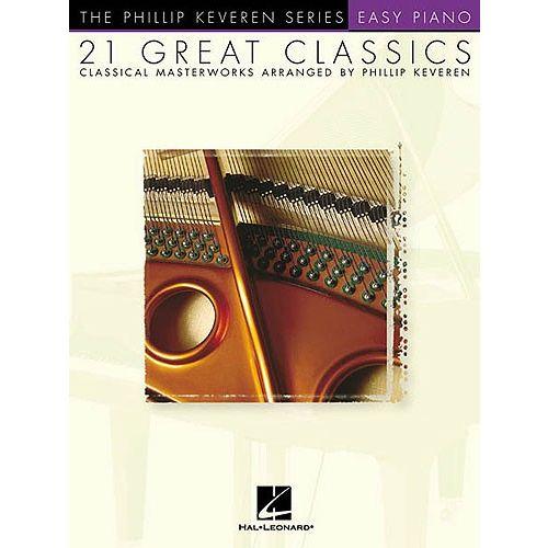 HAL LEONARD KEVEREN PHILLIP - 21 GREAT CLASSICS - EASY - PIANO SOLO