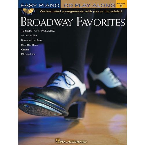 HAL LEONARD EASY PIANO PLAY ALONG VOLUME 3 - BROADWAY FAVORITES + CD - PIANO SOLO