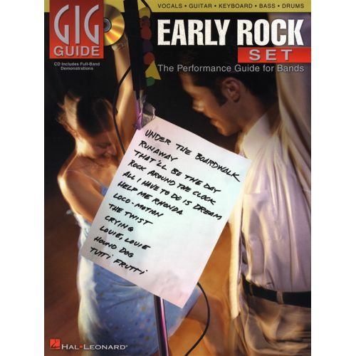 HAL LEONARD GIG GUIDE EARLY ROCK SET PERFORMANCE GUIDE BANDS + CD - BASS GUITAR