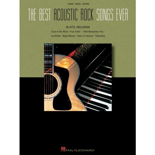 HAL LEONARD THE BEST ACOUSTIC ROCK SONGS EVER - PVG