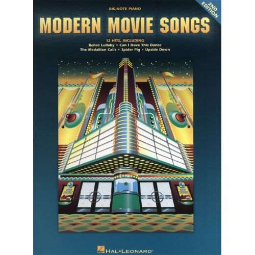 HAL LEONARD MODERN MOVIE SONGS FOR BIG NOTE - PIANO SOLO