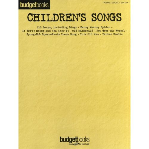 HAL LEONARD CHILDREN'S SONGS - PVG