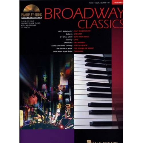 HAL LEONARD PIANO PLAY ALONG VOL.04 - BROADWAY CLASSICS + CD