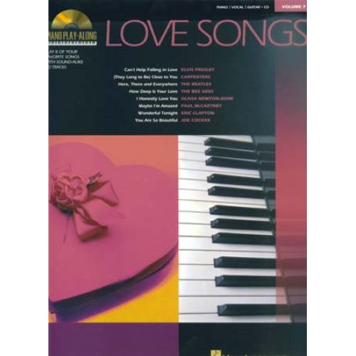 HAL LEONARD PIANO PLAY ALONG VOL.7 - LOVE SONGS + CD - PIANO