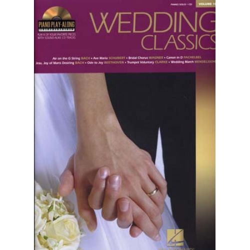 HAL LEONARD PIANO PLAY ALONG VOL.10 - WEDDING CLASSICS + CD