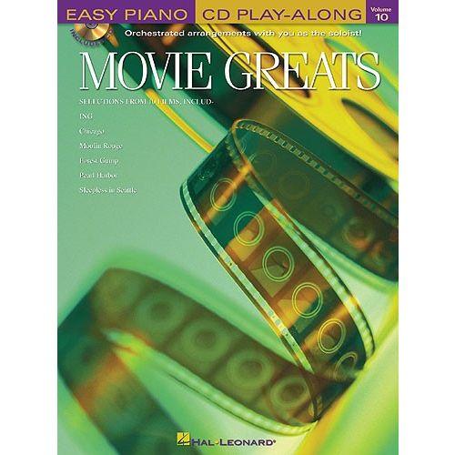 HAL LEONARD EASY PIANO PLAY ALONG VOLUME 10 MOVIE GREATS EASY + CD - PIANO SOLO