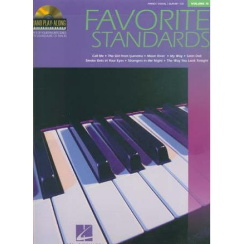 HAL LEONARD PIANO PLAY ALONG VOL.15 - FAVORITE STANDARDS + CD