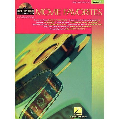 HAL LEONARD PIANO PLAY-ALONG VOLUME 17 - MOVIE FAVOURITES + CD - PVG