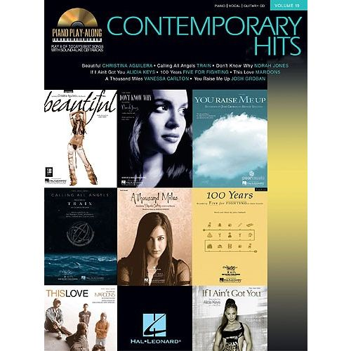 HAL LEONARD PIANO PLAY ALONG VOLUME 19 - CONTEMPORARY HITS + CD - PVG
