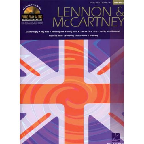 HAL LEONARD LENNON JOHN/MC CARTNEY PAUL - PIANO PLAY ALONG VOL.28 + CD