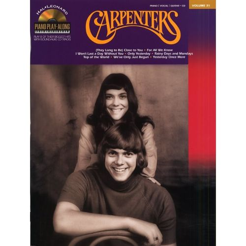 HAL LEONARD PIANO PLAY-ALONG VOLUME 31 - CARPENTERS + CD - PVG