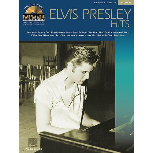 HAL LEONARD PIANO PLAY-ALONG VOLUME 35 ELVIS PRESLEY HITS CD - PVG